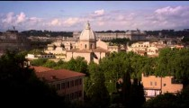 Panoramic shot of Rome skyline with Altare dell Patria