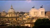 Still footage of the della Valle in front of the Altare della Patria
