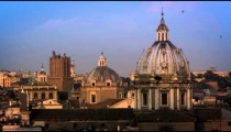 Footage of the dome of the della Valle and other domes and buildings