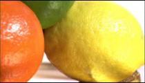 Close shot of varied fruits.