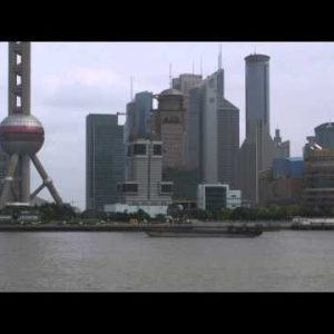 Shanghai skyline from across the Huangpu River