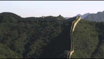 Long-distance pan of Great Wall