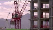 Medium shot of crane rotating