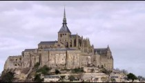 Still shot of Mont Saint Michel castle and monastery.