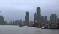 Shanghai skyscrapers along the Huangpu River