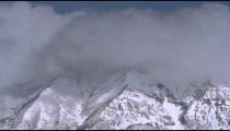Clouds obscuring mountain summits