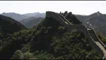 Slow panning the Great Wall of China at Badaling near Bejing, China.