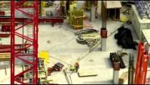 Panning, close up shot of City Creek Center construction in Salt Lake City