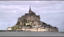 Mont Saint Michel castle and monastery.