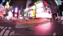 Time lapse of Times Square at night