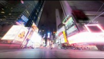 Times Square time lapse looking down 7th Ave