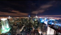 New York cityscape time-lapse from the Rockefeller building.