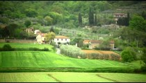 Italian farming town with with dirt roads.