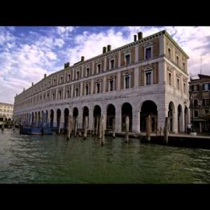Buildings along the water in Venice