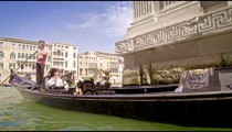 VENICE, ITALY - MAY 2: A couple take a gondola ride on the Grand Canal. May 2, 2012 in Venice, Italy