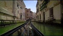 A gondola bow moves in slow motion