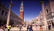 Slow motion, tilt shot taken at Piazza San Marco