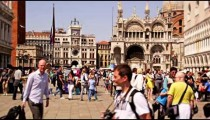 Slow motion video of tourists in Piazza San Marco