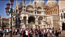 Slow motion, tilt shot of Basilica San Marco