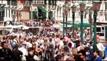 Slow motion of busy Venetian street