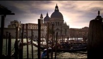 Gondola docks across from Santa Maria della Salute