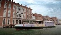 Slow motion, tracking shot of Grand Canal scenery