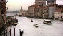 Boats and gondolas on a canal near Santa Maria della Salute
