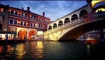 Passing boat and under bridge