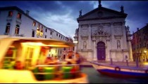 Water taxi passes in front of San Stae