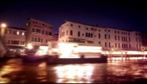 Tracking shot of the Grand Canal from the water