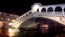 Gondola under Rialto Bridge