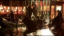 Gondola backs out of docks