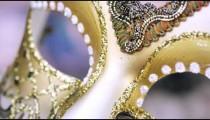 Close up shot of a carnival mask.