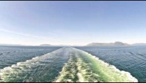 Time-lapse from the back of a cruise ship entering a channel in Alaska.