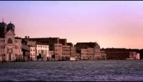 Panning shot of Baur Palladio Hotel and Piazza San Marco
