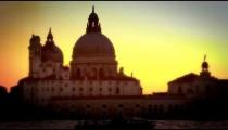 Santa Maria della Salute and crane across the Grand Canal