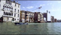 Tracking shot from boat on Grand Canal