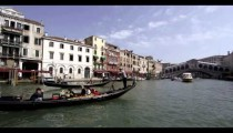 Slow motion footage of life on the Grand Canal