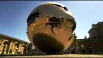 """Slow motion shot of the rotating """"Sphere within Sphere"""""""