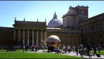 """Sphere within Sphere"" with Vatican in background"