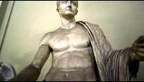 Rising shot of the Emperor Tiberius inside Vatican