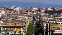 Footage of a domed building in Rome