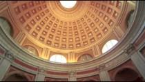Tilt up footage of Pantheon interior