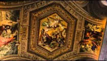 Ornate ceiling in the Vatican Museum