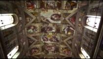 Tilt shot of the Sistine Chapel