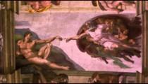 "Close-up of Michelangelo's ""Creation of Adam"""