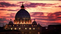 Close up footage of dome of St. Peter's Basilica