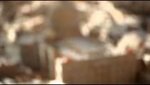 Racking shot of a miniature model of St Peter's Basilica