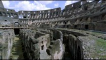 Still shot of one side of the arena, sky, and stadium of the Colosseum