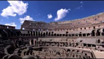Angled interior shot of Roman Colosseum